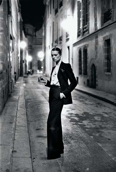 "Helmut Newton ""Rue Aubriot, French Vogue"", from the series ""White Women"". Paris 1975 © Helmut Newton Estate"