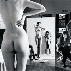 "Helmut Newton ""Self-Portrait with Wife and Models"". Vogue Studio, Paris 1981 © Helmut Newton Estate"