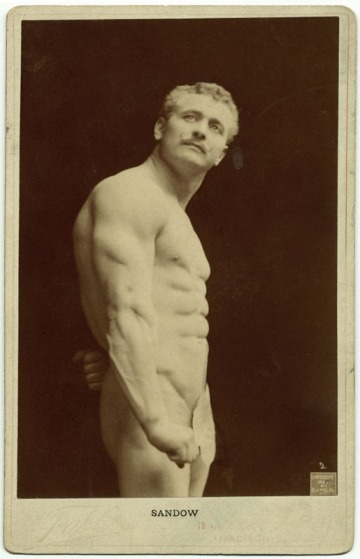 B.J. Falk, ca. 1895. Retrato de Eugene Sandow. George Eastman House Photography Collection