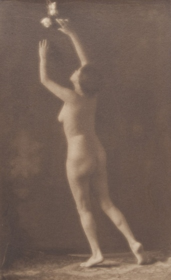 "Louis Fleckenstein, 1905. ""Nude Reaching"". Museum of Photographic Arts. Donación de Warren y Margot Coville."