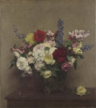 "Ignace-Henri-Théodore Fantin-Latour. ""La exhuberancia rosada de junio"", 1886. Óleo sobre tela. The National Gallery, Londres © The National Gallery, Londres"